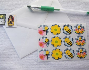 Bee Stickers Small Stickers One Inch Round Ses364