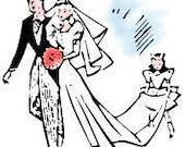 Custom ankle length wedding veil April Hess