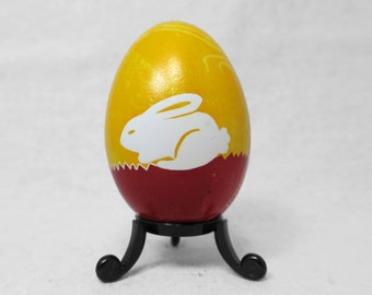 Pysanky, Ukrainian, Easter Egg, Red Rabbit, Rabbit, Easter Bunny, Red Easter Egg, Bunny Rabbit, Ukrainian Pysanky, Spring, Easter Gift -A40G
