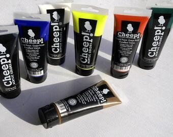 Acrylic paint set, Acrylic paint, Large tubes, set of 7 tubes, Fine art supplies, DIY, Art kit, paint sets, Basic colors, Acrylic painting