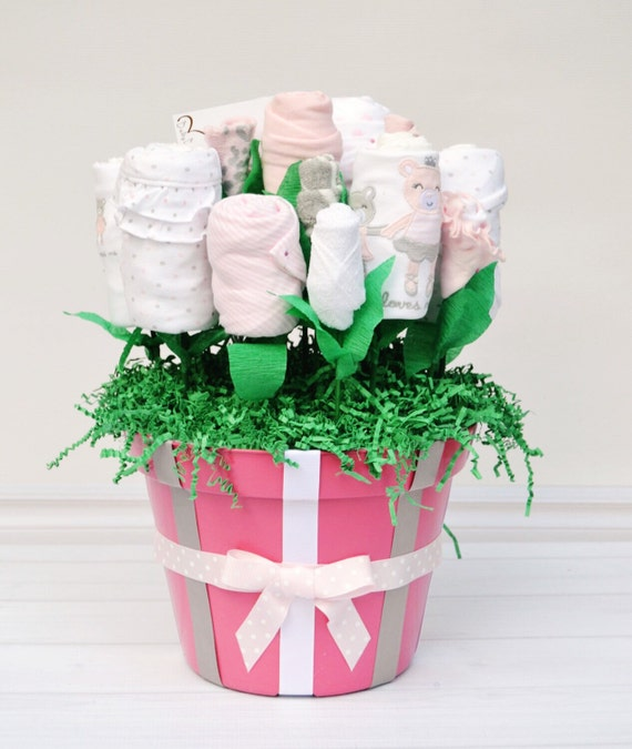Corporate Gifts, Office Baby Shower, Baby Shower Gift, Group Baby Gift, Newborn Girl Outfit, Pink and Gray Baby Shower, Baby Blossom Co