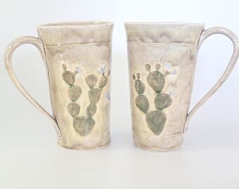 Ceramic Coffee Mug - Stoneware Mug - Ceramic Tea Cup - Desert Mug - Cactus Mug - Tea Cup - Craft Beer Mug - Coffee Cup - Pottery Mug