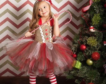 15% off Memorial Day Sale Gingerbread Girl Tutu Dress and Legwarmers- sz 0-5T