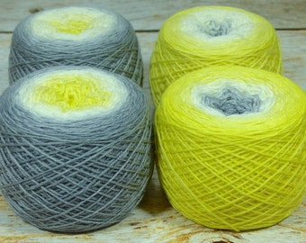 "Full "" Sylph "" - Lleaf Handpainted Gradient Sock Yarn"