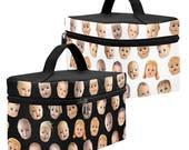 Doll Head Toiletry Bag - Gothic Dopp Kit - large zippered makeup bag - waterproof