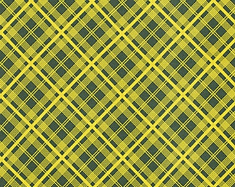 Denyse Schmidt Fabric By The Yard - Chicopee - Simple Plaid in Lime - Free Spirit Fabrics- Quilter's Cotton