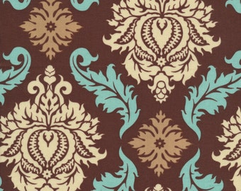 Joel Dewberry Fabric By The Yard - Aviary 2 - Damask in Bark - Free Spirit Fabrics- Quilter's Cotton