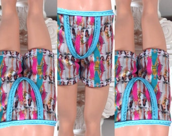 Custom BARBIE KEN doll baby blues underwear boxer briefs