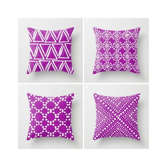 Purple Throw Pillow - Modern Throw Pillow - Purple Cushion - Geometric Pillow - Triangle Pillow - Throw Pillow 16 18 20 24 inch