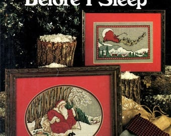 And Miles to Go Before I Sleep Santa Claus Christmas Eve Break Sleigh Counted Cross Stitch Embroidery Craft Pattern Leaflet Leisure Arts 730