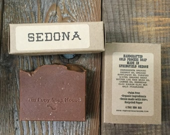 Sedona Red Clay Handcrafted Old Fashioned Lye Soap 4.5oz Bar