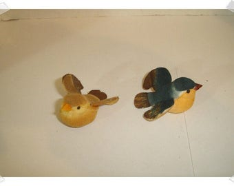 Mushroom Style Birds/ Small/ Set of 2 Assorted Colors* Sorry no choice in colors*/ Craft Supplies*