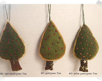 Tree Ornament/Made of Felt/ Handmade*/MADE to Order**