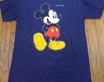 Mickey Mouse Florida blue t shirt medium