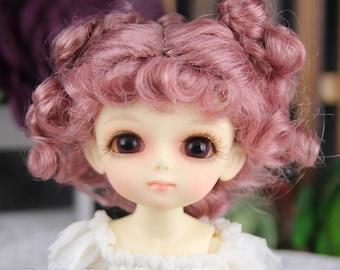 "Fatiao - Dollfie Lati Yellow Pukifee 5-6"" Doll Wig - Old Rose"