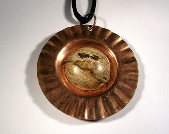 Copper & Picture Jasper Necklace