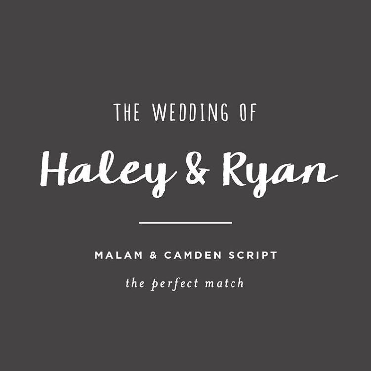 best free wedding font pairings the perfect match 3 - Free Wedding Invitation Fonts