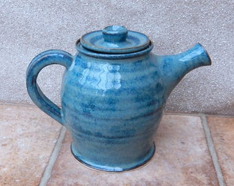 Teapot hand thrown stoneware handmade ceramic wheelthrown pottery tea pot coffee