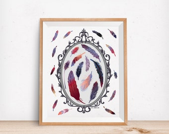Art Print: Feather Specimens
