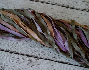 NeW - Hand Dyed Ribbon - YESTERYEAR quarter inch wide ribbon, 5 yards
