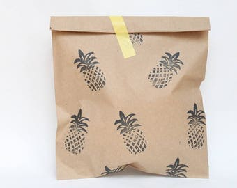 PINEAPPLE Party favour bags, tropical party favour, tutti frutti party, tropical party, summer party favours x 10