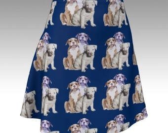 Pitbull Puppies Skirt