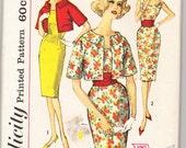 Vintage 1960 Simplicity 3425 UNCUT Sewing Pattern Misses' Dress Size 16 Bust 36