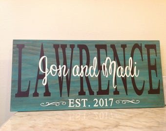 Wedding sign, family name sign, shabby chic sign