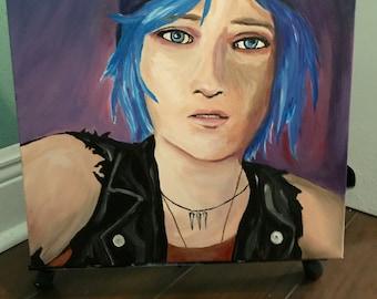 "Rewind ~ Chloe Price from ""Life is Strange""  14 x 14 Acrylic Art Painting"
