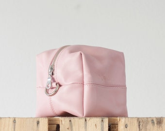 Baby pink accessory bag, makeup bag toiletry storage case vanity storage case cosmetic utility bag zipper pouch - Cube