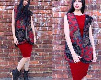 Vintage Bohemian Decorative Tapestry Vest