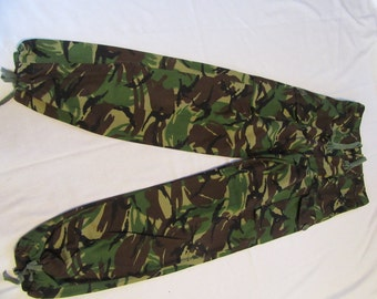 Camouflage Military Uniform Pants - Camo Green - 32 x 34  - Fashion Trousers - Combat Trousers - Drawstring Ankle