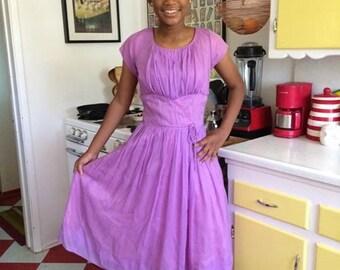 Lavender party dress 60s lilac