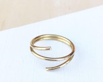 Wire Wrap Ring | Brass