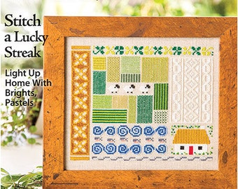 JUST CROSS STITCH Magazine: March - April 2017 Issue - Spring - St. Patrick's Day - Luck O' the Irish - Sampler - Easter Egg - Flowers