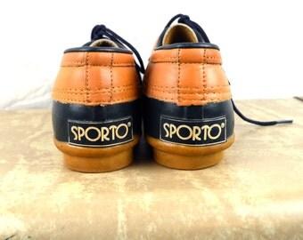 Vintage 1980s 90s Blue Sporto Ankle Duck Boots - Men's Size 8