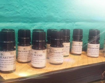 Dark Amber Aromatherapy Oil Blend of Undiluted Essential Oils. 5 ML