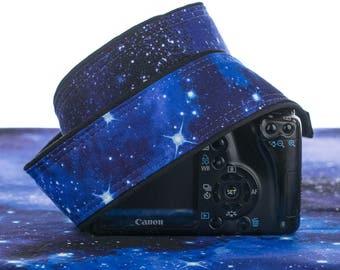 Space dSLR Camera Strap, Stars, Blue, SLR, Pocket, Galaxy, Canon strap, Nikon strap, Photographer Gift, Neck strap, Mens camera strap,  060