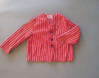 Vintage Red Corduroy Boys Jacket 3T Danny Dare Coat
