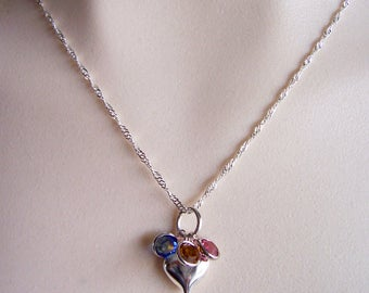 Swarovski birthstone necklace, mothers necklace, mother's day necklace, mother's day jewelry, birthstone jewelry, custom necklace