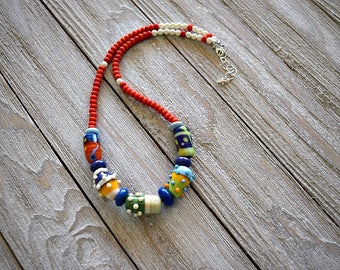 Colorful Lampwork Necklace