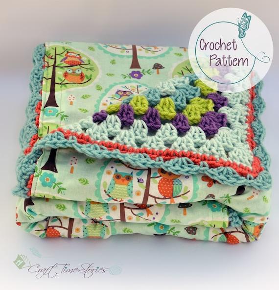 Reversible baby blanket, crochet pattern, baby blanket PDF, crochet fabric blanket, Instant download, granny square crochet blanket pattern