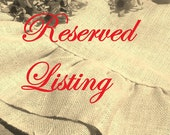 Custom Listing, Burlap and Lace Valances
