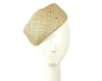 Straw Hat for Women, Easter Hat, Womens Straw Hat, Easter Hat, Womens Summer Hat, Church Hat, Wedding Hat, Beret Hat, Ladies Hat, Beret Cap