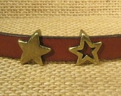 Star Sliders for 10mm Flat Leather - Antique Brass - SP87 - Choose Your Quantity