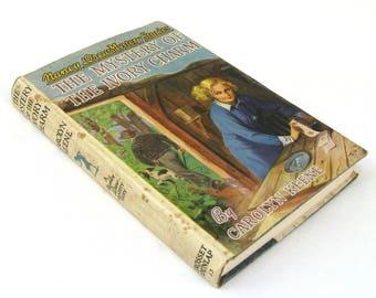 nancy drew mystery story  ...  vintage book circa 1936   ...  the mystery of the ivory charm