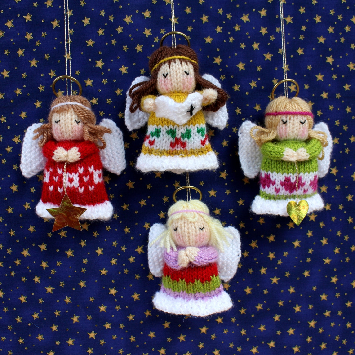 Little angels christmas decoration doll knitting pattern for Angels decorations home