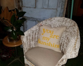 You are my sunshine - Hand Stamped Pillow Cover