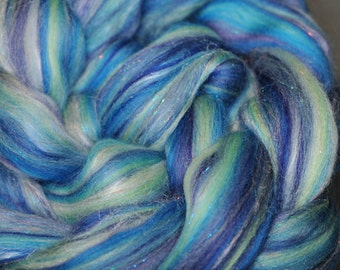 The Legend of Squee! Merino/Silk/Stellina Combed Top - 4 oz