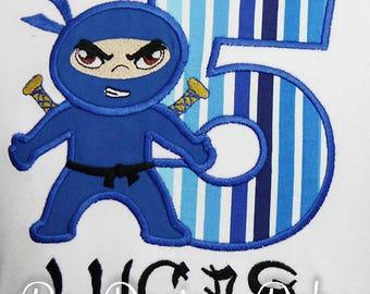 Boy's Ninja Birthday Shirts, Ninja Birthday, Boy's Karate Shirt or Bodysuit, Available in Ages 1-9, Custom, Choose your color scheme